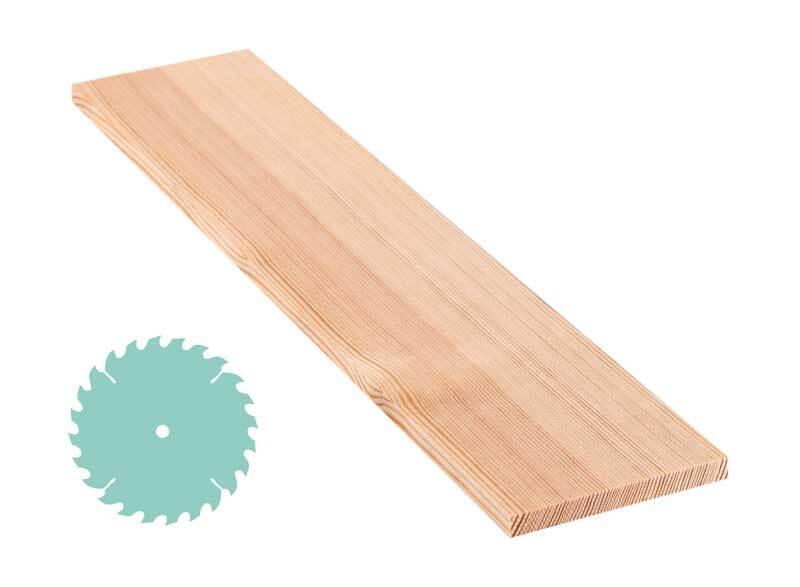 Grenen plank - zaagservice, 1 x 10 cm