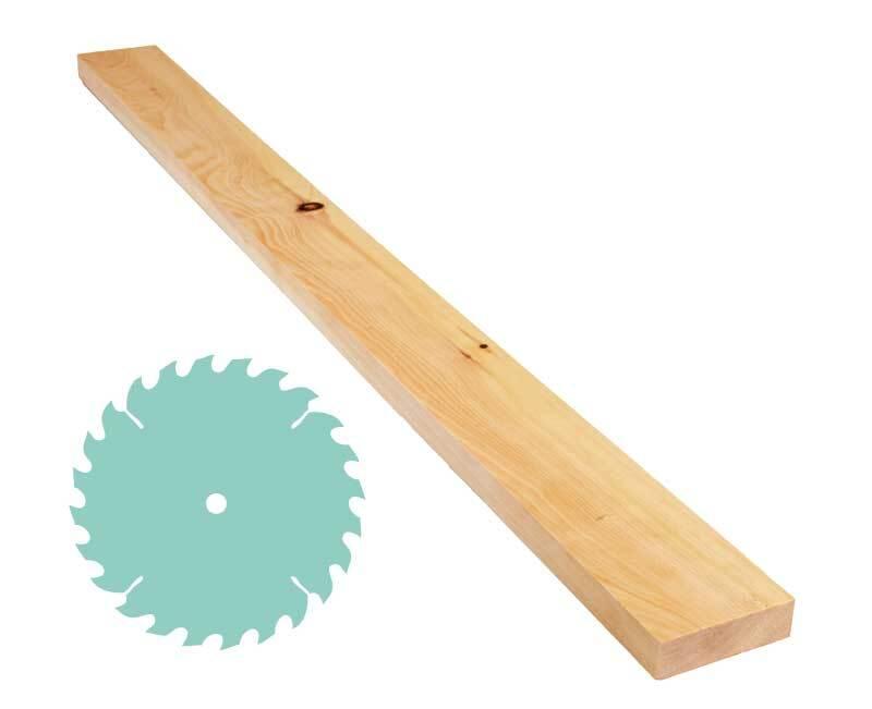 Alpenden plank - zaagservice, 2,4 x 8 cm