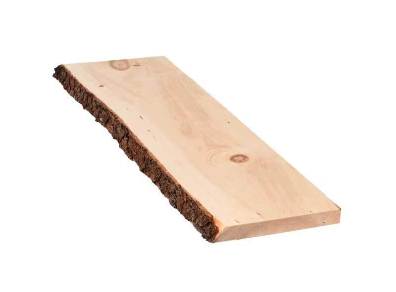 Planche en pin cembro - 75 cm, 2,4x20-25 cm, écorc