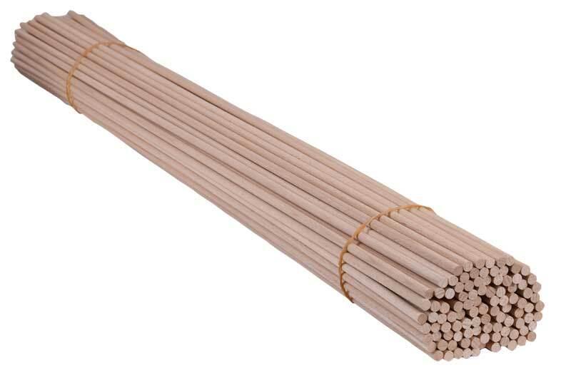 Tige ronde en bois Ø 8 mm - 100 pces, 100 cm