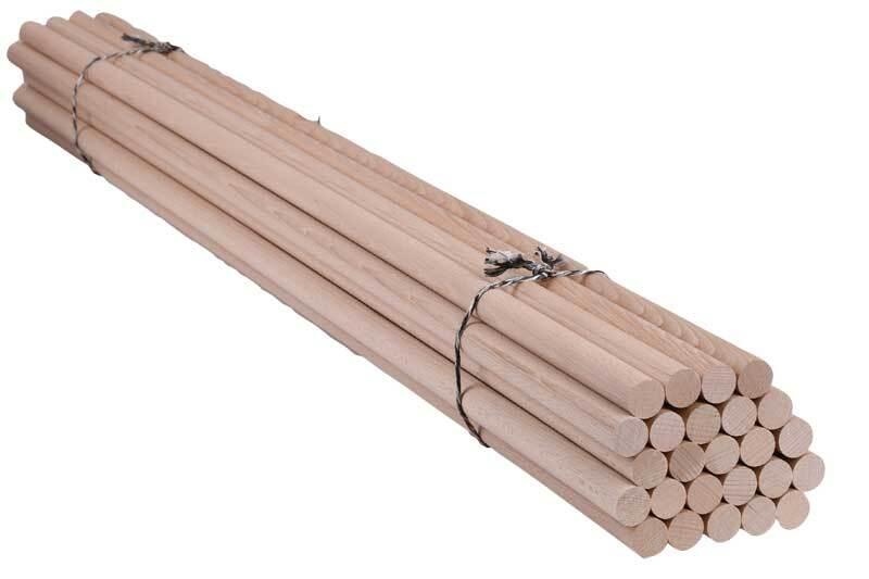Tige ronde en bois Ø 20 mm - 25 pces, 100 cm