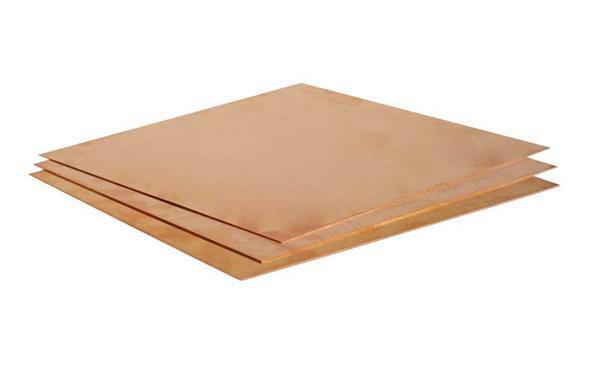 Koperplaat - 1,0 mm, 20 x 20 cm