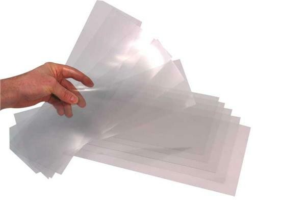PVC transparent rigide - 0,7 mm, 20 x 35 cm