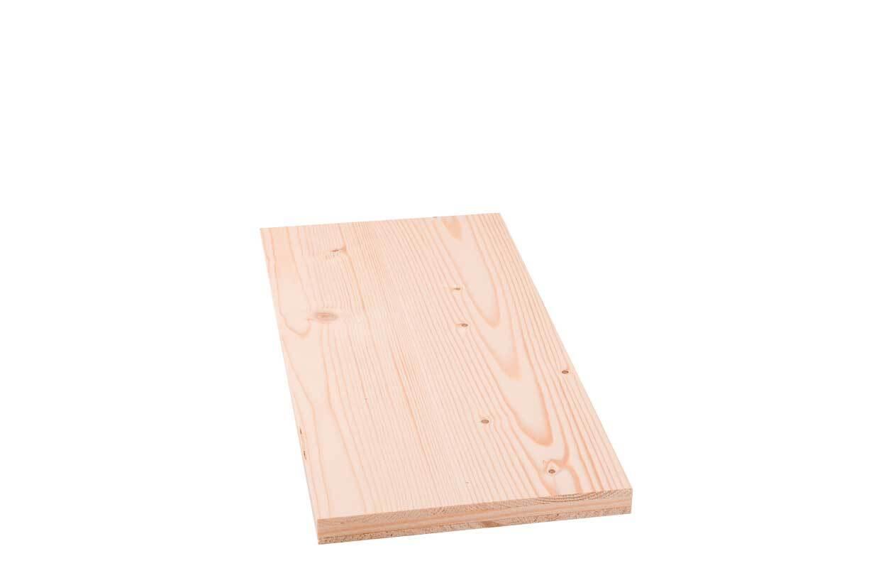 3-laags paneel vurenhout - 19 mm, 50 x 20 cm