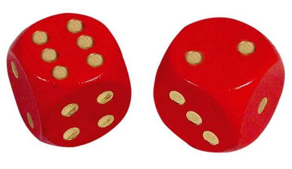Spielwürfel - 16 mm, rot