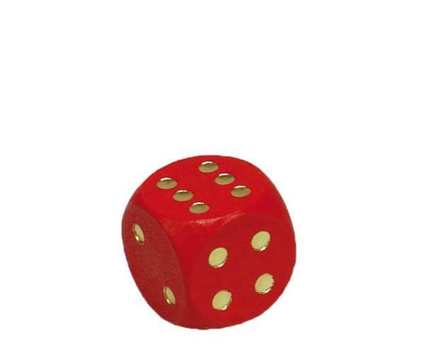 Dobbelstenen - 16 mm, rood