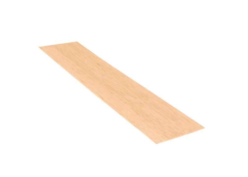 Balsa hout - 10 x 50 cm, 1,5 mm