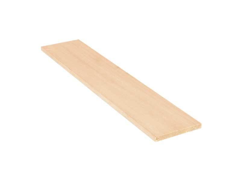 Balsa hout - 10 x 50 cm, 10 mm