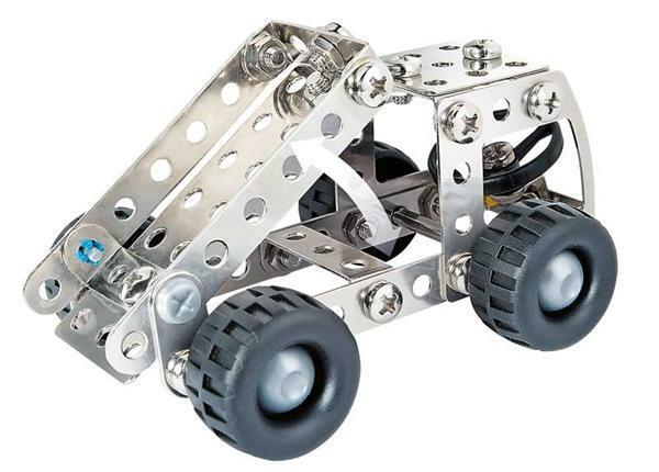 Metaalbouwdoos - graafmachine / vrachtwagen