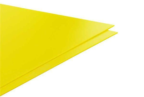 Polystyrol gelb - 2 mm, 24,5 x 14,5 cm