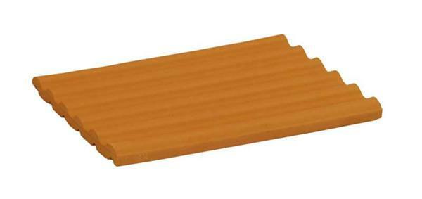 Wellenplatte rot - 4 Stk./Pkg., ganze Platte