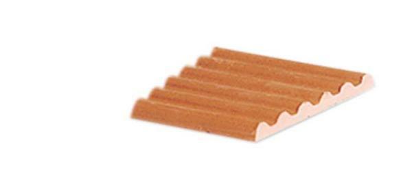 Wellenplatte rot - 6 Stk./Pkg., halbe Platte