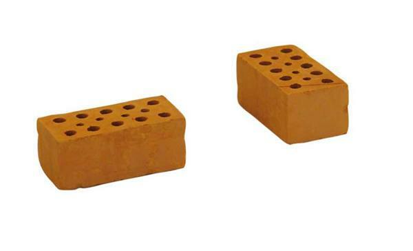 Brique rouge - 96 pces, pierre entière