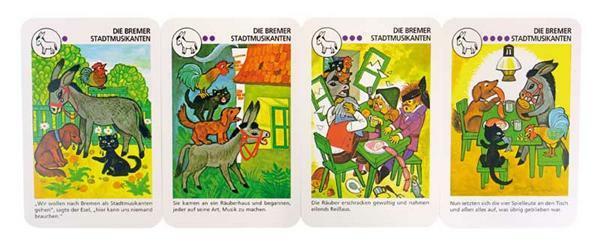 Jeu de cartes Quartet - Contes d'animaux