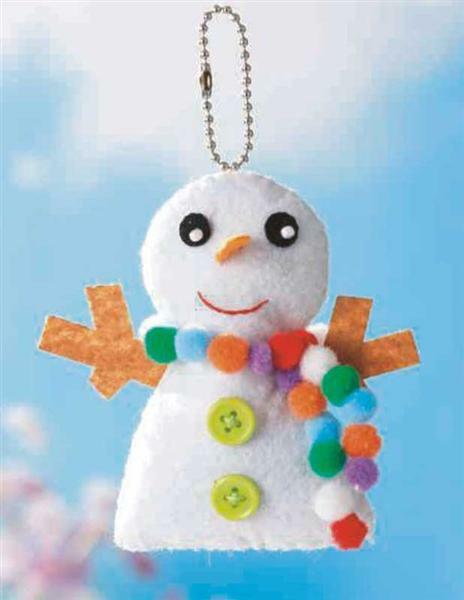Set de création en feutrine, bonhomme de  neige