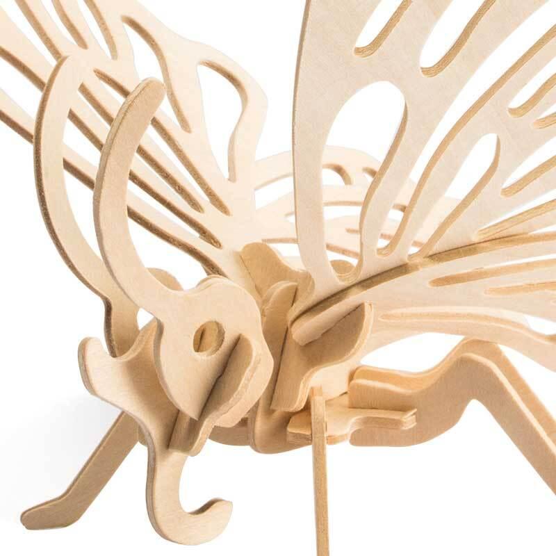 Houten bouwset - vlinder, 22 x 24 x 19 cm