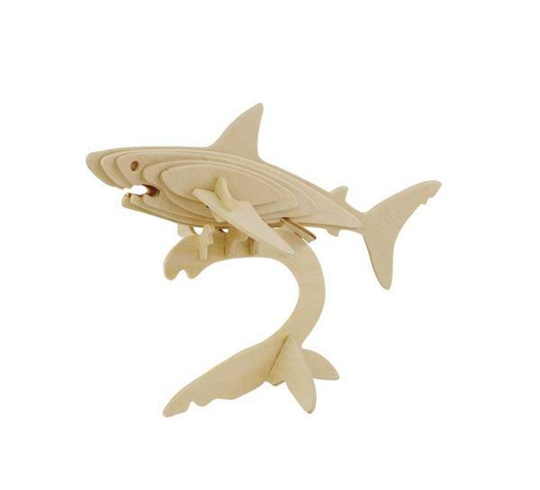 Holzbausatz Hai, 22 x 11 x 15 cm