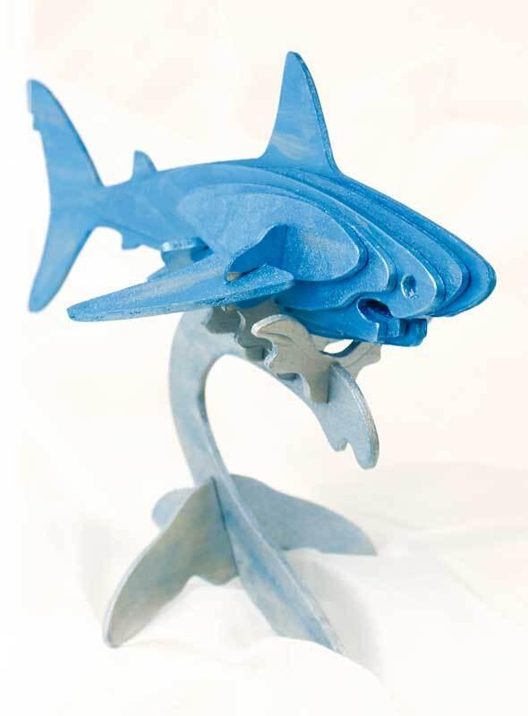 Houten bouwset - haai, 22 x 11 x 15 cm