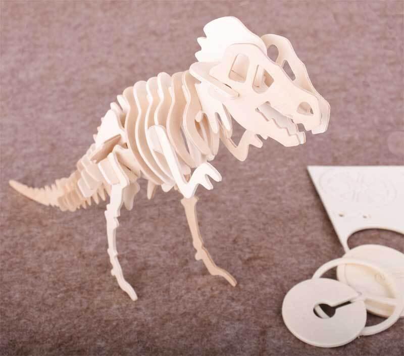 Holzbausatz T-Rex, 33 x 8 x 23 cm