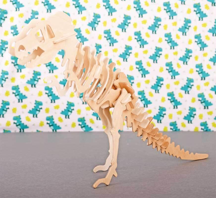 Houten bouwset - T-Rex, 33 x 8 x 23 cm