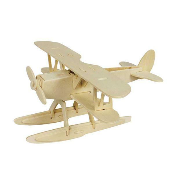 Houten bouwset - watervliegtuig, 21 x 20 x 9,5 cm