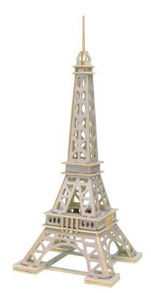 Houten bouwset - Eiffeltoren, 18 x 18 x 43 cm
