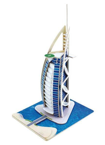 Houten bouwset Hotel Dubai, 17 x 21 x 34 cm