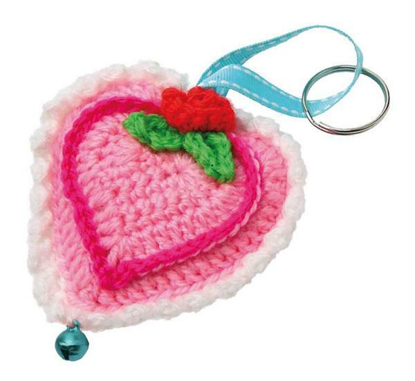 Set de crochet, cœurs Liv