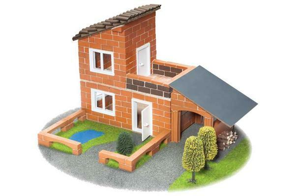 Steinbaukasten - Villa mit Garage