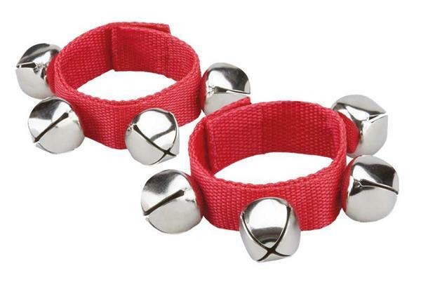 Bracelets à grelots - 2 pces, rouge