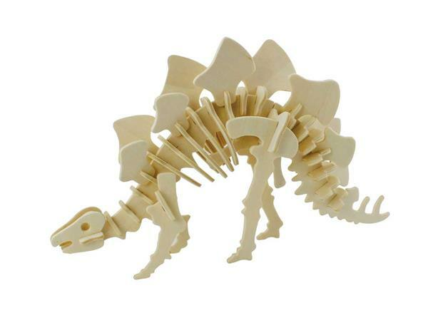 Holzbausatz Stegosaurus, 27 x 7,5 x 15 cm
