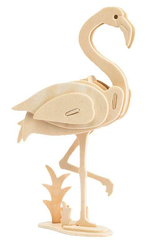 Houten bouwset - flamingo, 22 x 5 x 13 cm