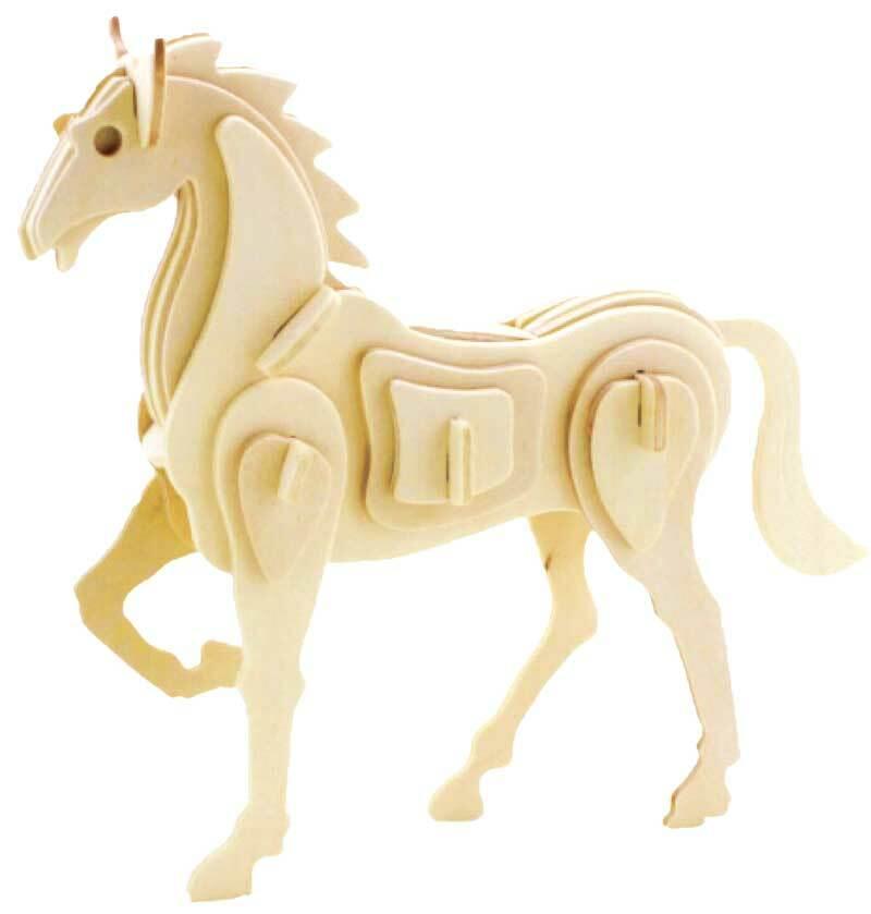 Holzbausatz Pferd / Einhorn, 20 x 5 x 17 cm