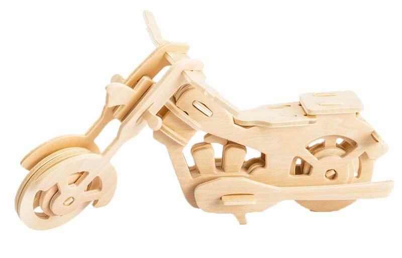 Holzbausatz Motorrad, 19 x 9 x 9 cm