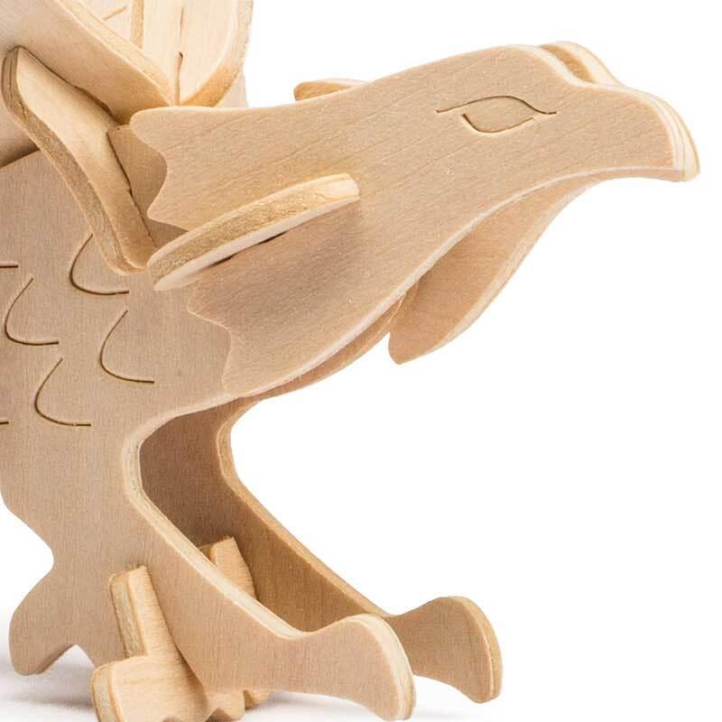 Kit en bois - Aigle, 12,5 x 19 x 12,5 cm