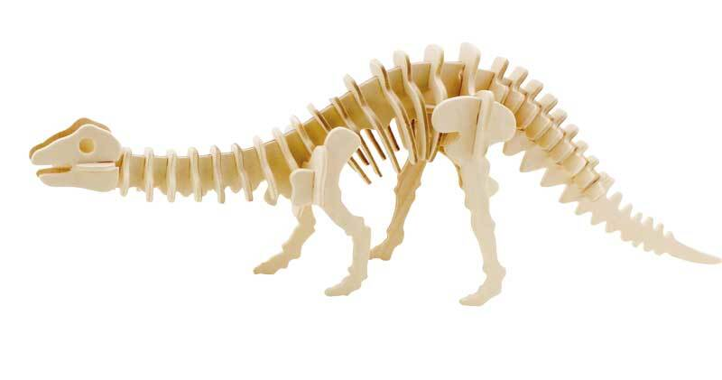 Holzbausatz Dinosaurier, 35,5 x 7,5 x 12 cm