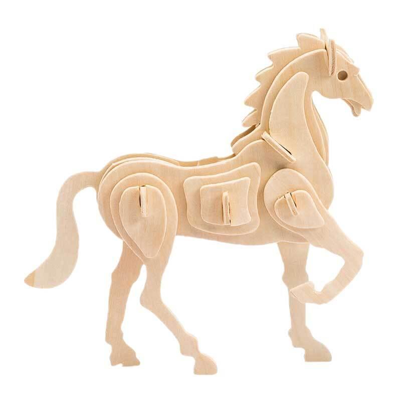 Holzbausatz Pferd, 18 x 4,5 x 16 cm