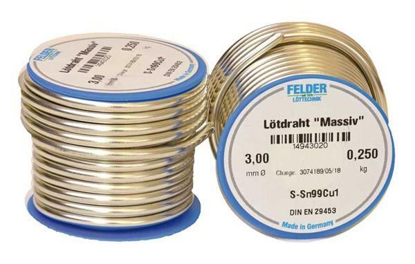 Soldeerdraad - 250 g, Ø 3,0 mm, loodvrij