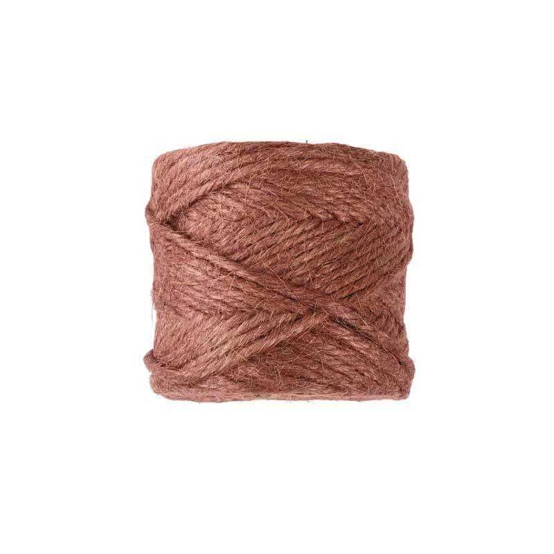 Jute knoopgaren - bruin, Ø4 mm, ca 60 m