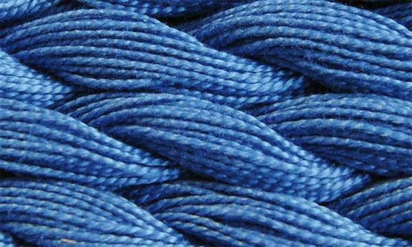 Elisa fil perlé n°3, bleu atlantique