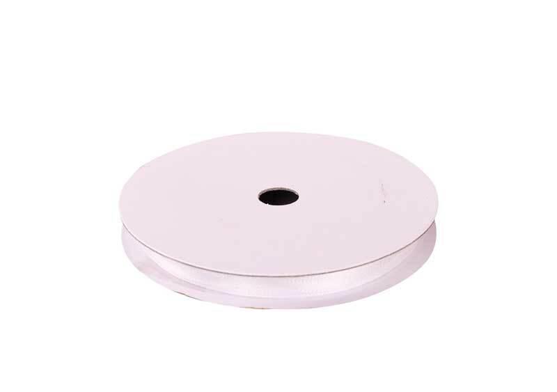 Rubans satin avec lisière - 3 mm, blanc