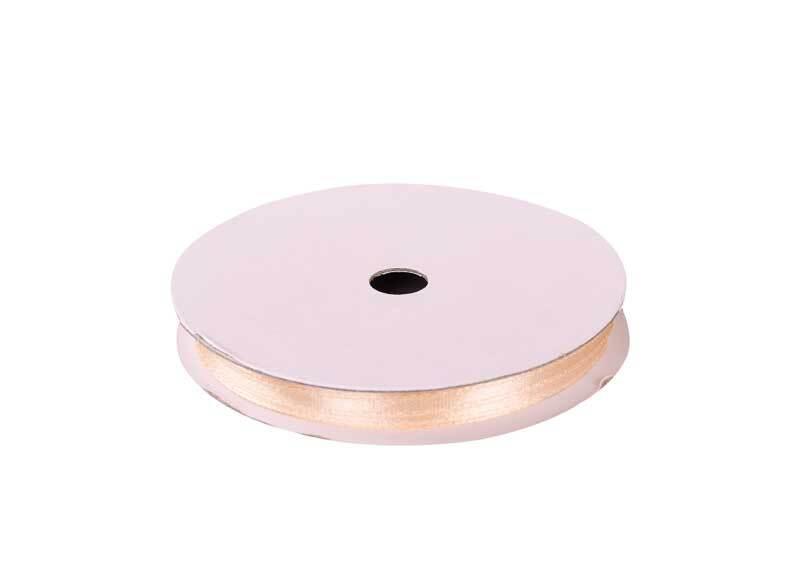Satijnlint met zelfkant - 3 mm, beige