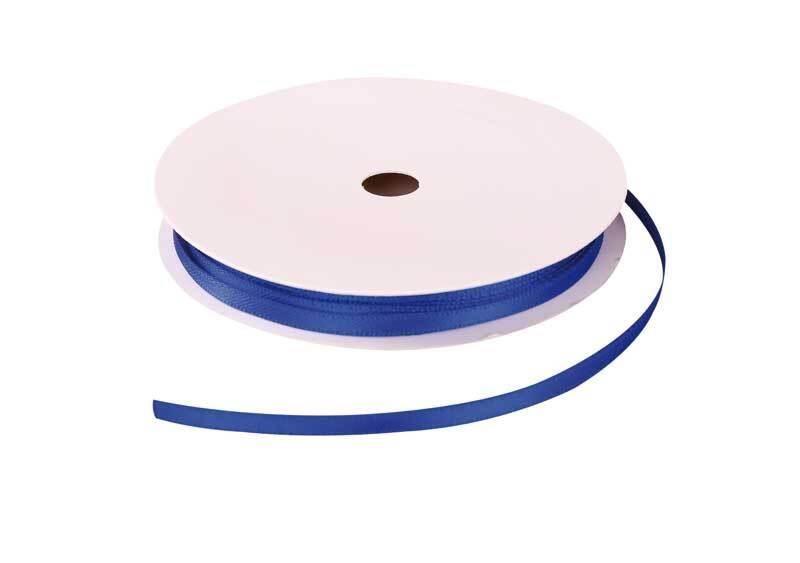 Satinband mit Webkante - 3 mm, blau