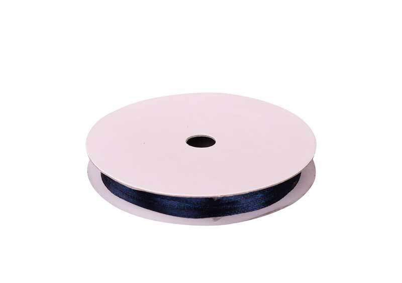 Satinband mit Webkante - 3 mm, marine