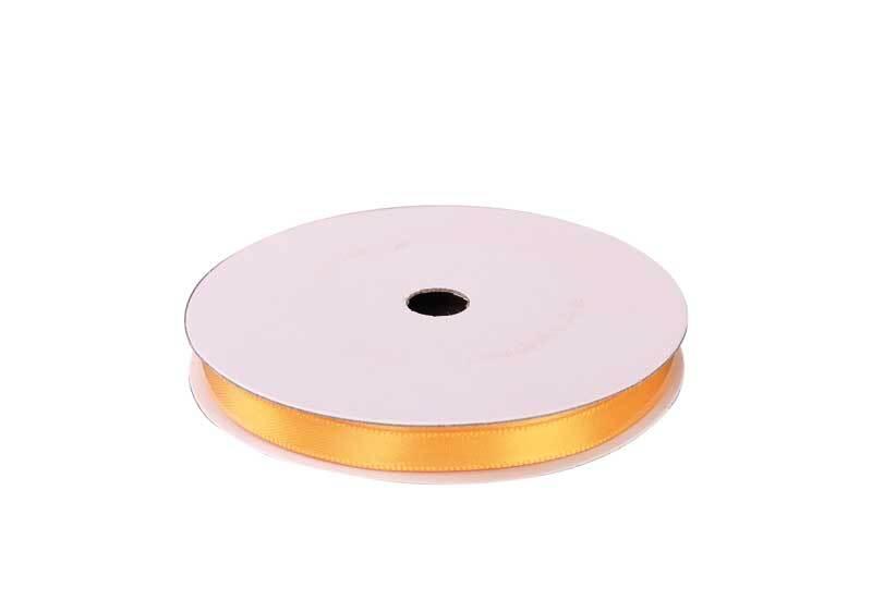 Rubans satin avec lisière - 6 mm, jaune