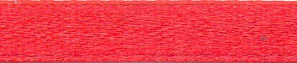 Rubans satin avec lisière - 6 mm, rouge