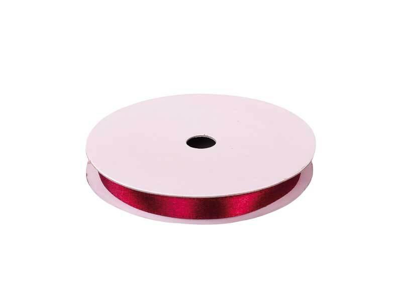 Satinband mit Webkante - 6 mm, weinrot