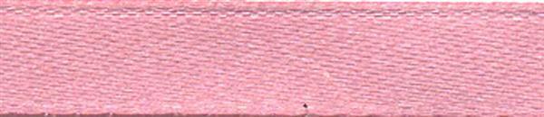 Satijnlint met zelfkant - 6 mm, oudroze