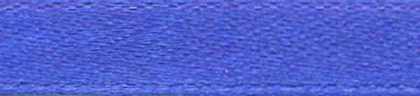 Satijnlint met zelfkant - 6 mm, blauw