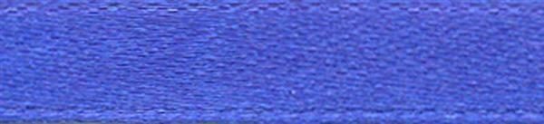 Rubans satin avec lisière - 6 mm, bleu